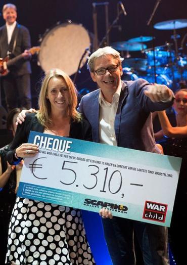 Scapino haalt 5.310 euro op voor War Child