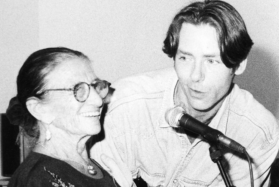 Ed Wubbe en Hans Snoek bij het 50 jarig bestaan van Scapino (fotograaf onbekend)