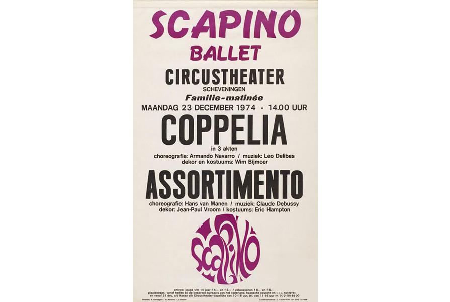 Affiche van Coppelia uit 1974