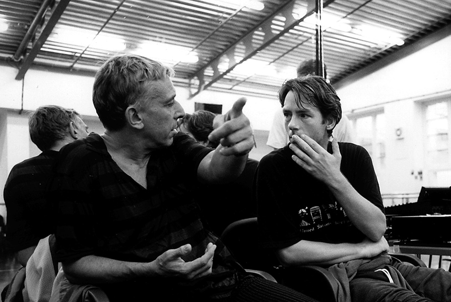 John Cale en Ed Wubbe repeteren Nico (fotograaf onbekend)