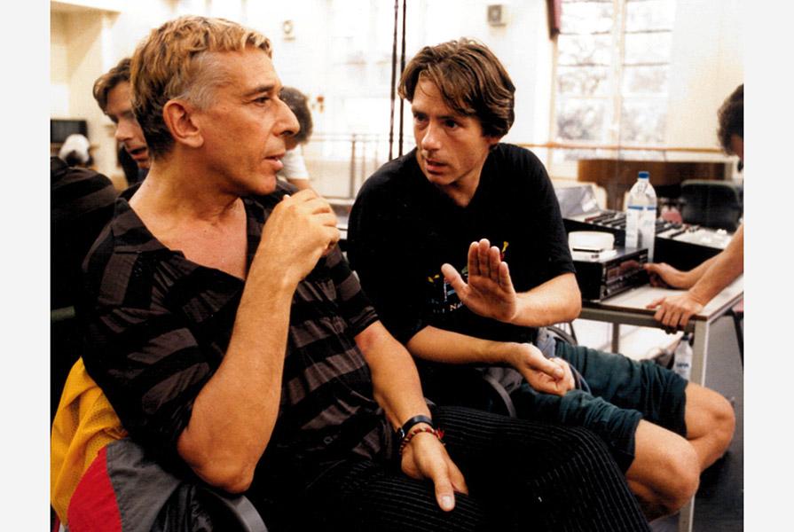 John Cale en Ed Wubbe in de studio (fotograaf onbekend)