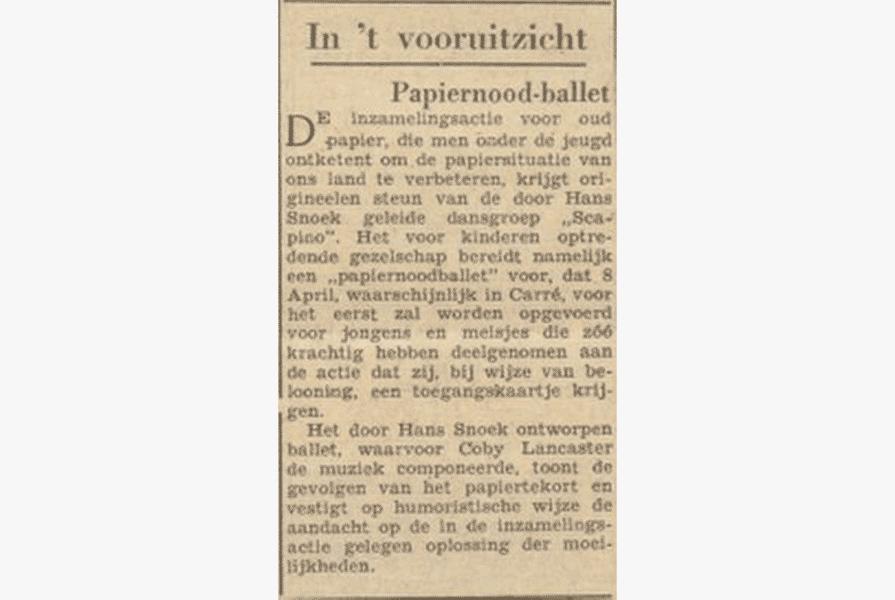 Knipsel uit Het Parool (28 maart 1947)   Auteur onbekend
