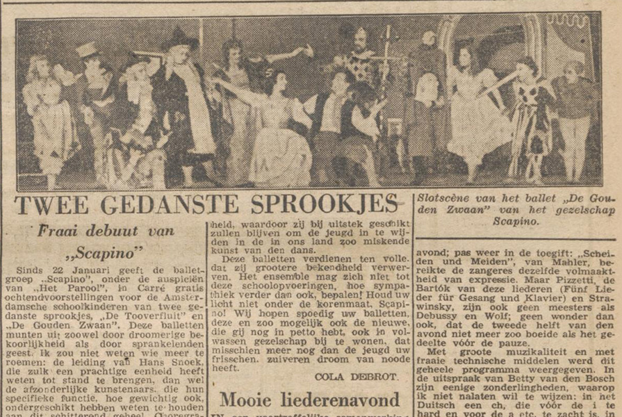 Knipsel uit Het Parool (1 januari 1946)